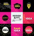 Creative idea design concept logo banner template vector image vector image