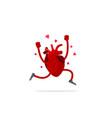 creative medicine concept anatomical human heart vector image