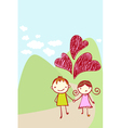 cute couple card vector image vector image