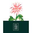 dahlia soft pink macro flower realistic big vector image