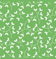 dense tiny leaves seamless pattern vector image vector image