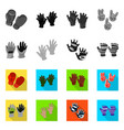 design of silhouette and safety symbol set vector image vector image