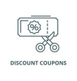discount coupons line icon linear concept vector image vector image