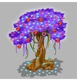 Fantastic tree with strawberry and heart toy vector image