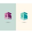 figure 5 logo 3d five icon concept design
