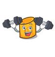 fitness rigatoni character cartoon style vector image