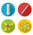 flat chemical icon vector image vector image
