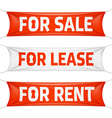 Fore Sale For Lease and For Rent banners vector image vector image
