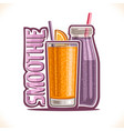 fruit smoothie vector image
