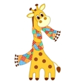 Giraffein in a scarf isolated vector image vector image