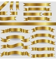 gold ribbons vector image vector image