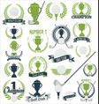 golf and golfing sport design elements collection vector image