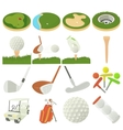 Golf items icons set cartoon style vector image vector image