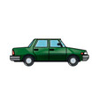 green sedan car vehicle transport image vector image