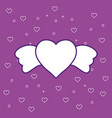 heart with wings design vector image vector image