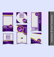 instagram story and feed template eps10 vector image