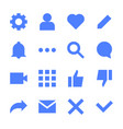 interface flat icons for web and mobile app vector image vector image
