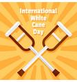 international white cane day concept background vector image vector image