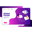internet forum concept people discussion mobile vector image