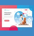 landing page template veterinary vector image vector image