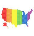 lgbt spectrum dot usa with alaska map vector image vector image