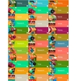 Mega collection of flat design infographic banners vector image vector image