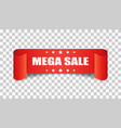 mega sale ribbon icon discount sticker label on vector image vector image