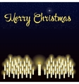 Merry Christmas starry sky over the burning vector image vector image
