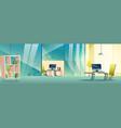 modern company office cartoon interior vector image vector image