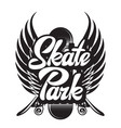 monochrome on skateboarding vector image vector image