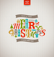 Multicolored Christmas type design vector image