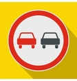 No overtaking road traffic sign icon flat style vector image vector image