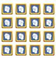 pants pockets design icons set blue square vector image vector image