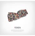 people map country Yemen vector image vector image