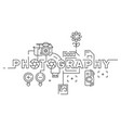 photography flat line design vector image