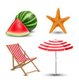 realistic summer holidays vector image vector image