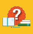 Searching for answers learning concept Flat design vector image vector image