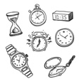 set clocks and watches vector image