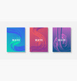 set covers design templates with vibrant vector image vector image