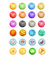 set of bubbles and magic balls for game ui vector image vector image