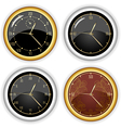 set of clock designs vector image