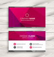 simple pink business card vector image vector image