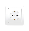 socket in white color vector image