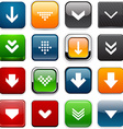 Square color download icons vector image