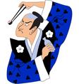 Sushi samurai vector image