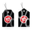 tag with big sale sticker on it vector image