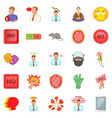 tension icons set cartoon style vector image vector image