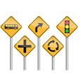 traffic sign pole set vector image vector image