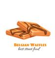 waffles icon vector image vector image
