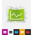 chart paper sticker with hand drawn elements vector image